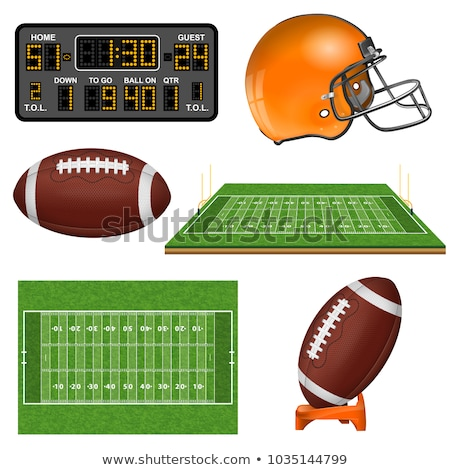 Stok fotoğraf: American Football Field Mark Icon