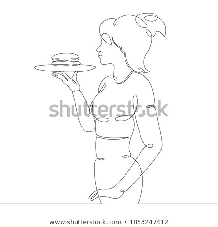 El sandviç tepsi kahvaltı Stok fotoğraf © Kzenon