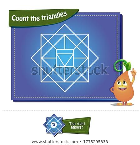 educational children game logic game for kids find differences stock photo © anastasiya_popov