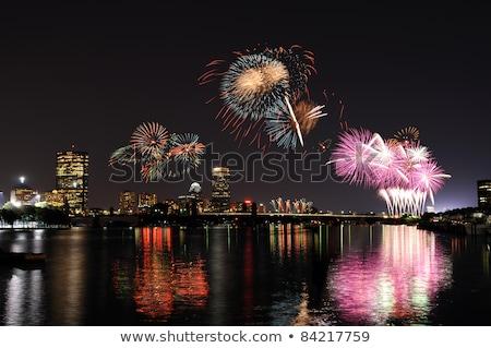 bright light on boston waterfront stock photo © jsnover