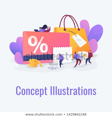 Discount and loyalty card vector illustration. Сток-фото © RAStudio