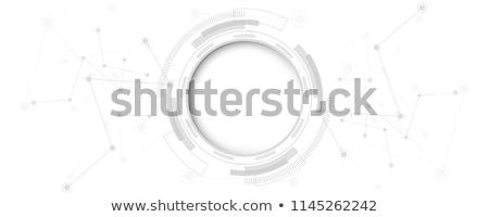 Absztrakt hálózat kör üzlet munka háttér Stock fotó © designleo