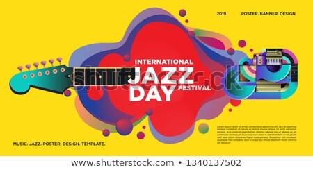 Jazz día anunciante saxófono música instrumento Foto stock © cienpies