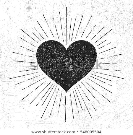 Grunge Heart Lightrays Background stock photo © swatchandsoda