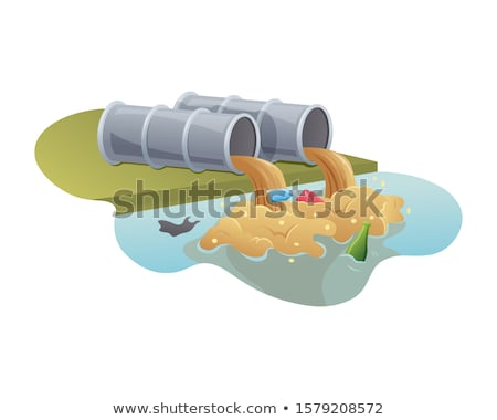 Brown sewage pipes Stock photo © biv