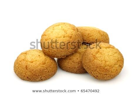 Foto stock: Holandés · almendra · cookies · cocina · mesa · desayuno