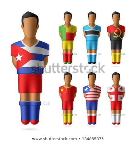 Kuba banderą kolekcja rysunku zestaw wektora Zdjęcia stock © pikepicture