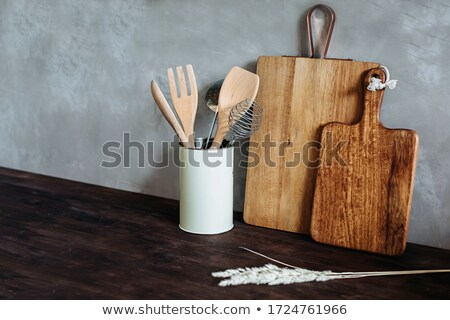 Aardewerk houten stick staal werken rand Stockfoto © pressmaster