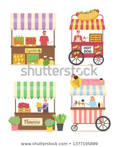 Hot Dog продавец мороженым вектора магазин Сток-фото © robuart