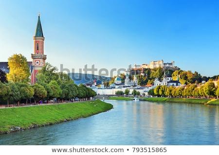 río · Austria · cielo · casa · puente · arquitectura - foto stock © borisb17