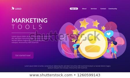 Satisfação lealdade análise aplicativo interface modelo Foto stock © RAStudio