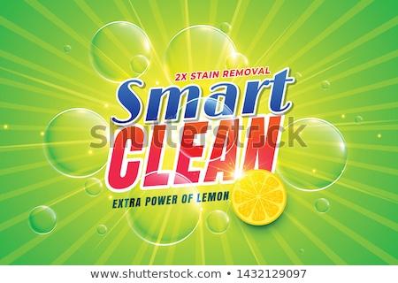 Detergente limão acondicionamento modelo água Foto stock © SArts
