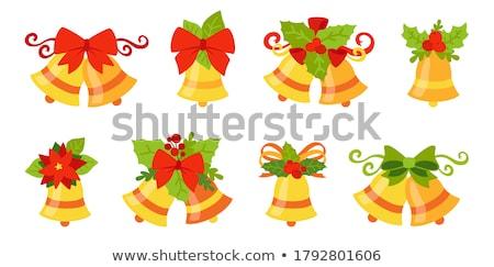 zilver · bel · kerstboom · abstract · achtergrond - stockfoto © oleksandro