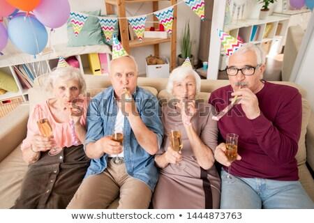 homem · assobiar · retrato · festa · seis - foto stock © pressmaster