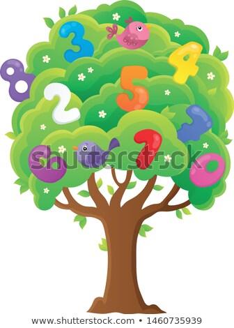 árvore números tópico imagem escolas aves Foto stock © clairev