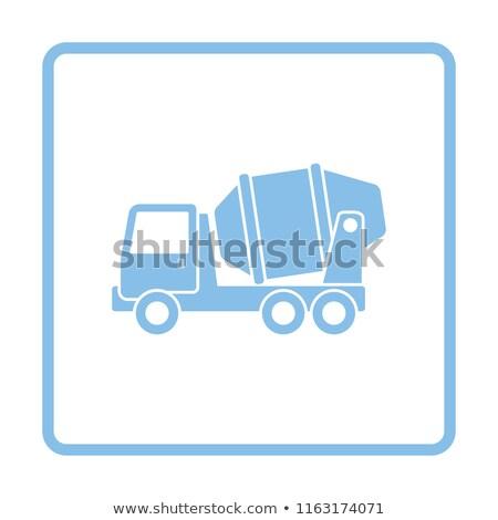 синий конкретные смеситель грузовика мнение сторона Сток-фото © YuriSchmidt