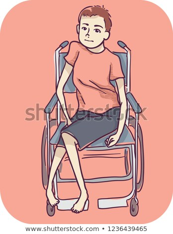 Kid Boy Symptom Weak Lower Body Cant Walk Stock photo © lenm