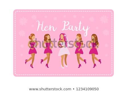 party · illustrazione · donne · vino · ragazze · notte - foto d'archivio © robuart