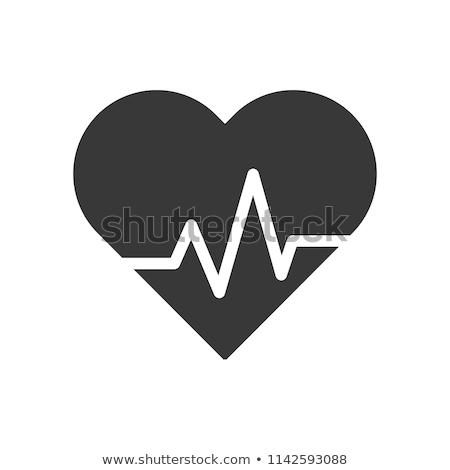 Hart vector icon geïsoleerd witte ontwerp Stockfoto © smoki