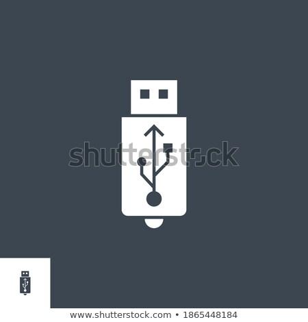 USB related vector glyph icon. Stock photo © smoki