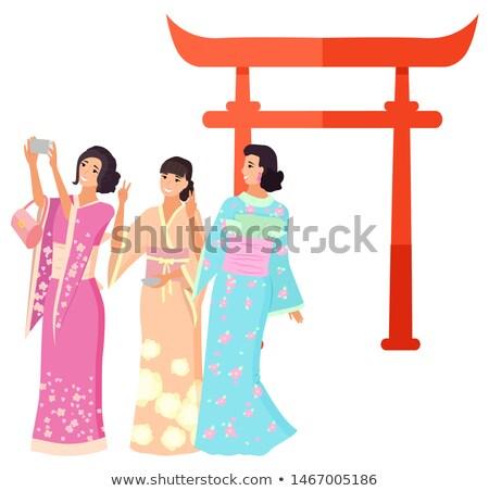 Mojón Japón disparo geisha vector japonés Foto stock © robuart