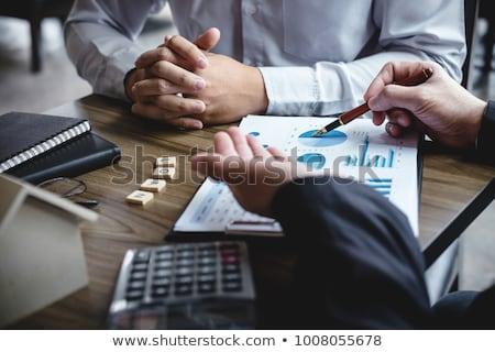 ストックフォト: 不動産 · ブローカー · エージェント · 分析 · 決定