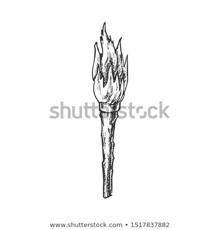факел ручной работы старые сжигание Stick Сток-фото © pikepicture