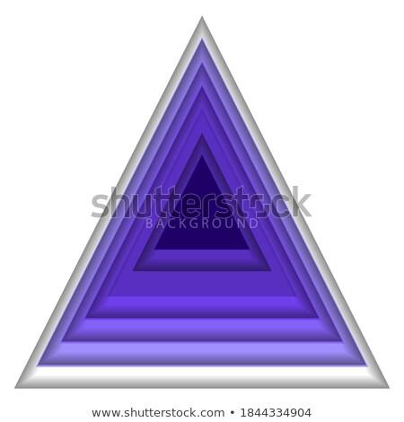 Etiqueta papel materialismo triângulo forma cor Foto stock © pikepicture