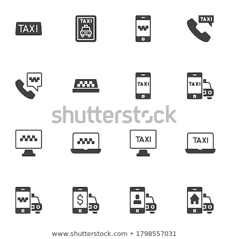 online taxi collection elements icons set vector stock photo © pikepicture