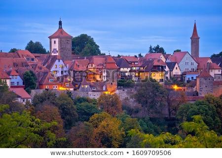 ストックフォト: 通り · 歴史的 · 町 · 夜明け · 表示 · ロマンチックな