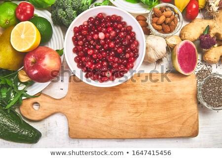 Ricca vitamine minerale in giro tagliere alimentare Foto d'archivio © Illia