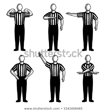 Basketball Umpire or Referee Hand Signals Drawing Set Collection Stock photo © patrimonio