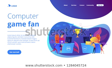 Verseny app interfész sablon profi asztal Stock fotó © RAStudio