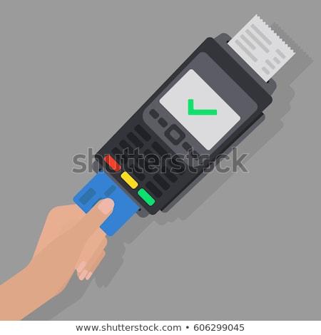 Creditcard lezer illustratie betalen smartphone kaart Stockfoto © toyotoyo