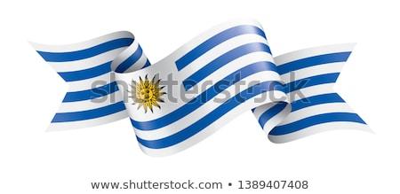 Уругвай флаг белый солнце Мир знак Сток-фото © butenkow