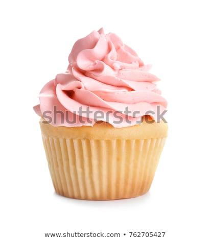 cupcakes with frosting on white background Stock photo © dolgachov