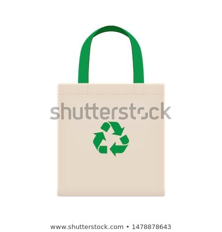 reciclar · compras · marrón · bolsa · ilustración · reciclado - foto stock © jomphong