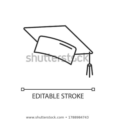 akadémia · tanulás · épület · ikon · vektor · skicc - stock fotó © pikepicture