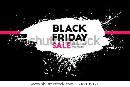 Black friday Verkauf Banner weiß Tinte splatter Stock foto © SArts