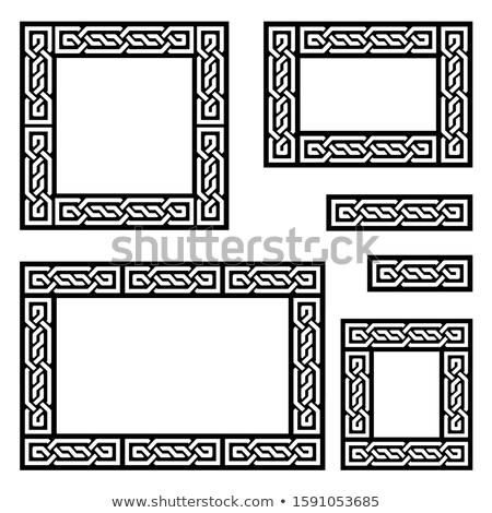 кельтской вектора кадр границе шаблон коллекция Сток-фото © RedKoala