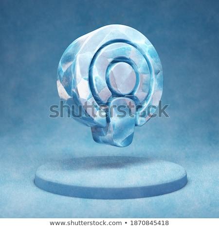 azul · podcast · botão · isolado · branco - foto stock © cidepix