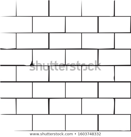 White handdrawn brickwall background with grunge effect. vector illustration Stock photo © kyryloff