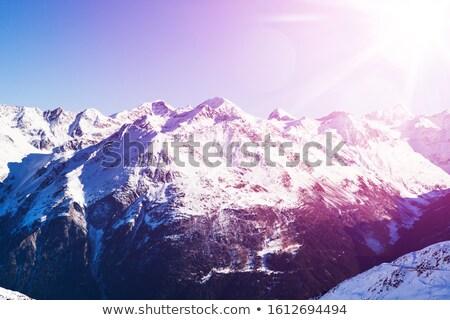 Scenic View Of Ski Resort Soelden In The Oetztal Alps Stock photo © AndreyPopov