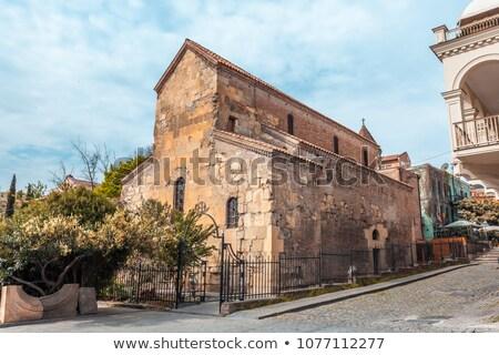 Basiliek Georgië kerk maagd oude binnenstad tempel Stockfoto © borisb17