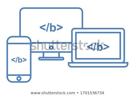 çapraz web sitesi ikon tarayıcı html Stok fotoğraf © gomixer