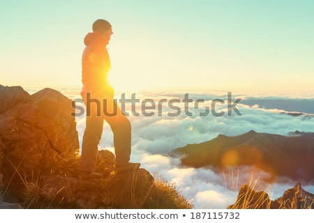 Mountain peak Pico Ruivo at Madeira island, Portugal Stock photo © boggy