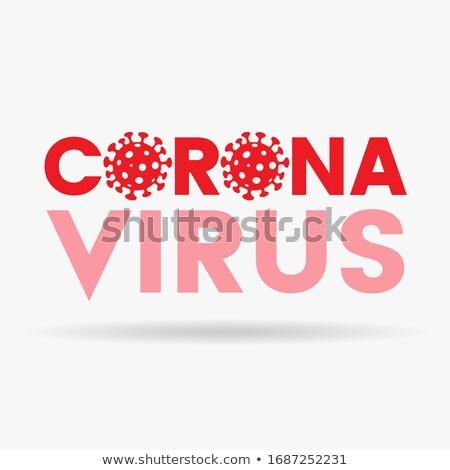 Rosso coronavirus icona illustrazione medici cinese Foto d'archivio © cidepix
