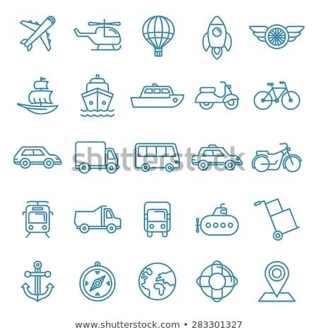 Bus taxi icon vector schets illustratie Stockfoto © pikepicture