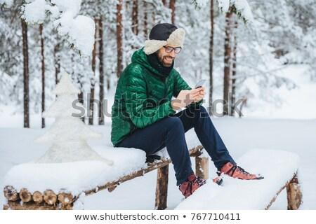 Erkek iletişim yalnızlık Stok fotoğraf © vkstudio