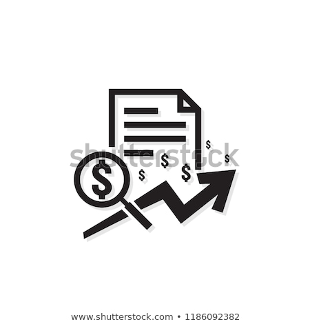increase sales and exchange rates icon vector outline illustration Stock photo © pikepicture